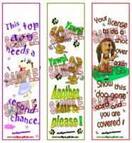 Mulligan Golf Dog Bookmarks