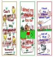 Mulligan Golf Bookmarks Excuses #2
