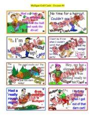 Mulligan Golf Cards Excuses #4